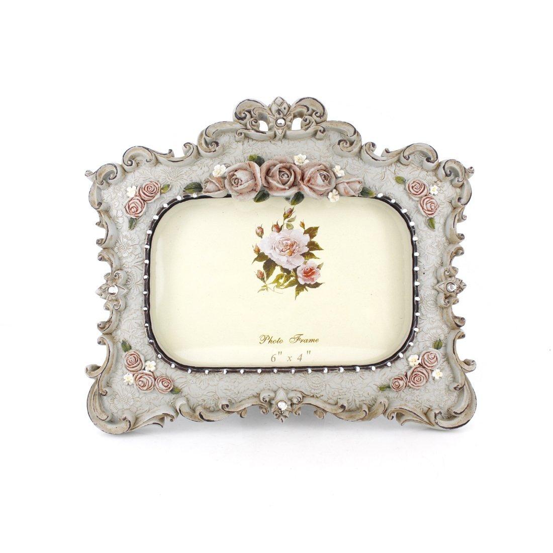 4x6-inch Victorian Floral Desktop Picture Frame