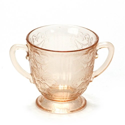 American Sweetheart Pink by Macbeth-Evans, Glass Sugar Bowl