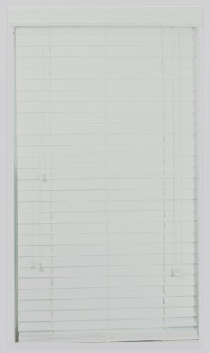 Calyx Interiors Real Wood Venetian Blind, 32-Inch Width by 60-Inch Height, Super White