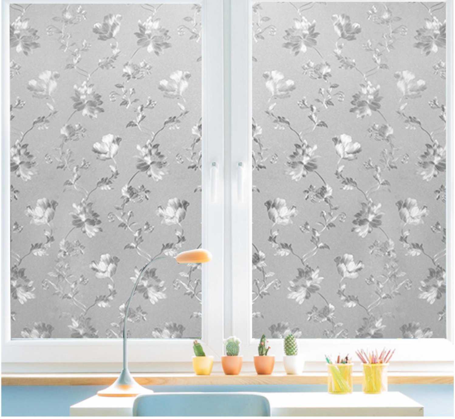 Fancy-Fix Decorative Privacy Vinyl Glass Window Film