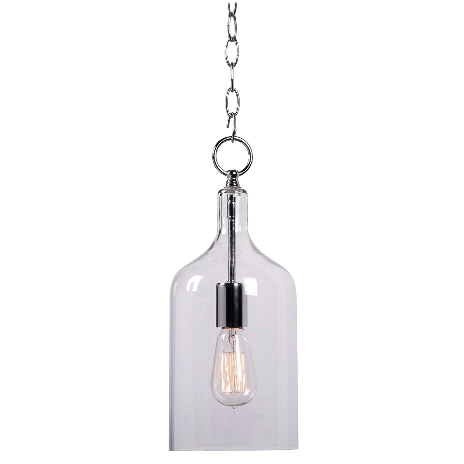 Kenroy Home 91831CLR Capri 1-Light Mini Pendant, Chrome