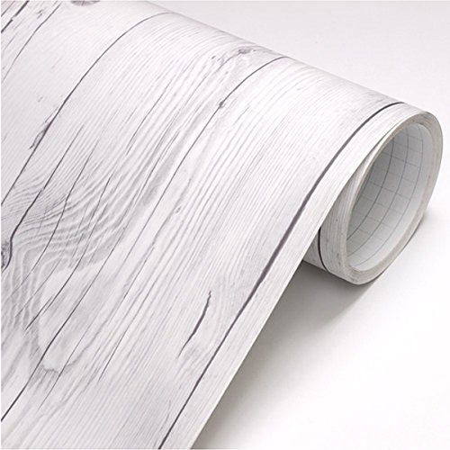 Peel & Stick Backsplash Vintage White Wood Panel Pattern Contact Paper Self-adhesive Removable Wallpaper 22344 : 1.64 Feet X 9.84 Feet