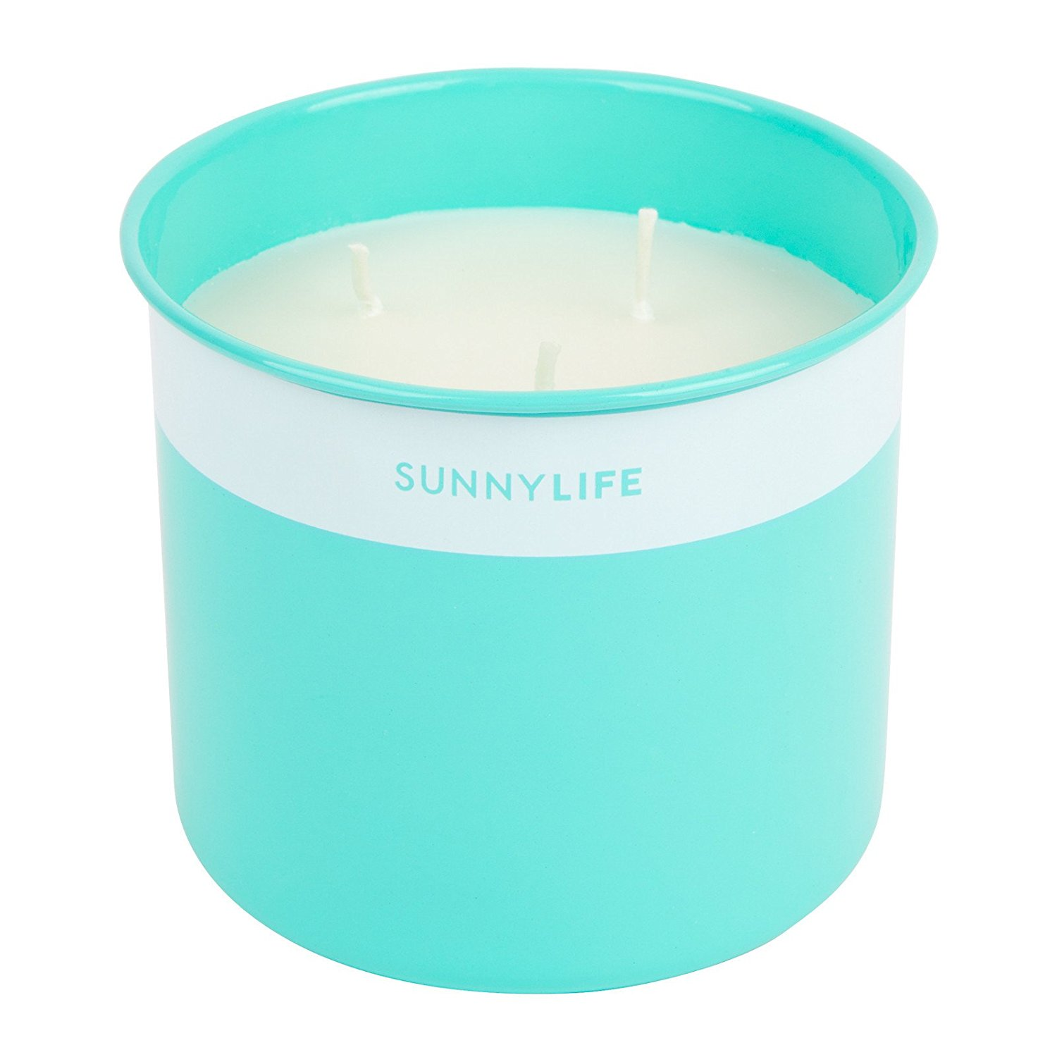 Sunnylife Outdoor Citronella Scented Wax Candle, Keep Mosquitos and Bugs Away - Turquoise, Large