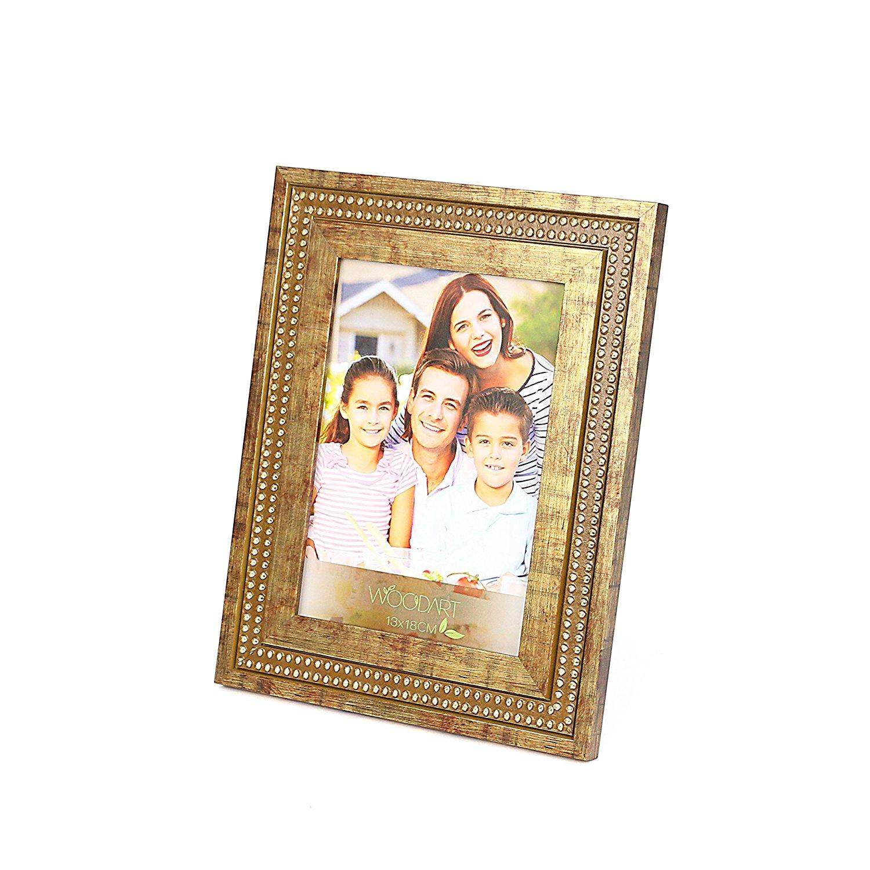 "WoodArt Wooden Picture Frame (8x10"", Vintage Gold)"