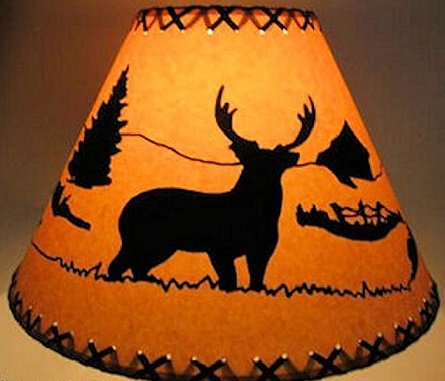 16 Inch Deer Rustic Lamp Shade....Click On Photos To View Sizing and Style Options