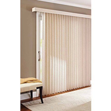 78 x 84 Light Control Durable PVC, Vertical Textured S-Slat Privacy Blinds, Beige