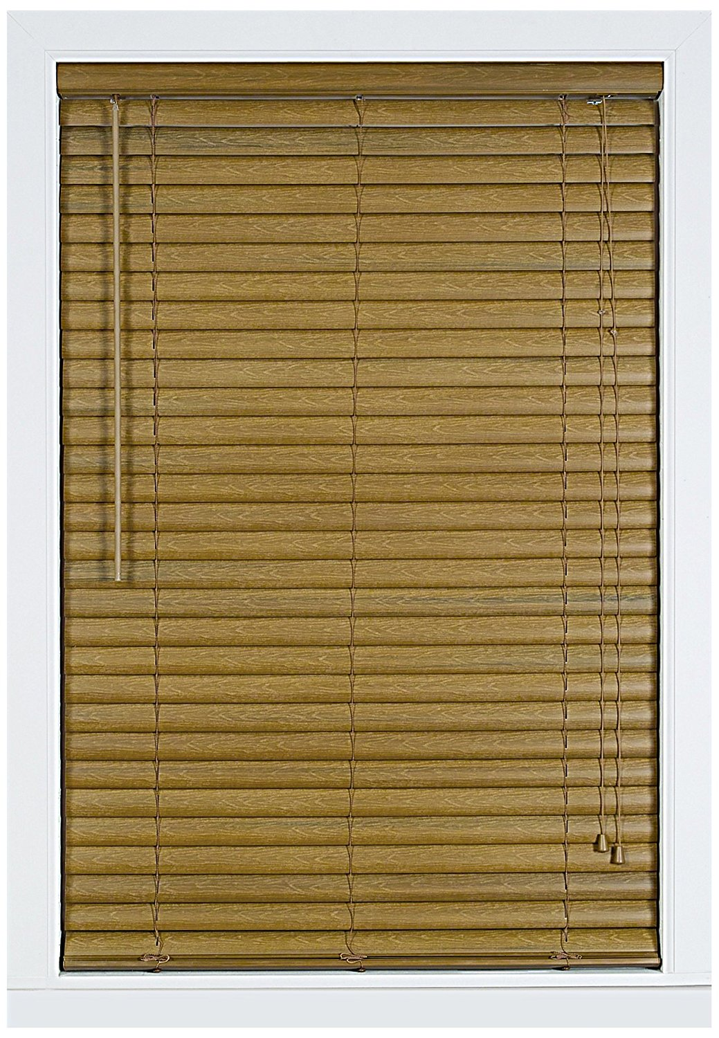 Achim Home Furnishings Luna 2-Inch Vinyl Blind, 23-Inch by 64-Inch, Woodtone