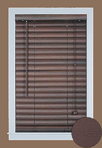 Achim Home Furnishings Luna 2-Inch Vinyl Blind, 31 by 64-Inch, Mahogany