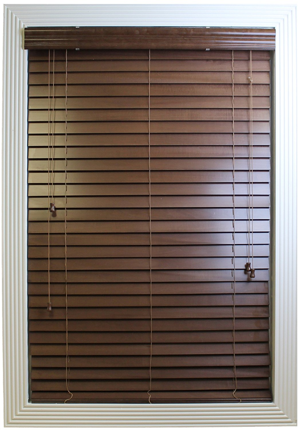 Calyx Interiors Real Wood Venetian Blind, 20-Inch Width by 72-Inch Height, Pecan