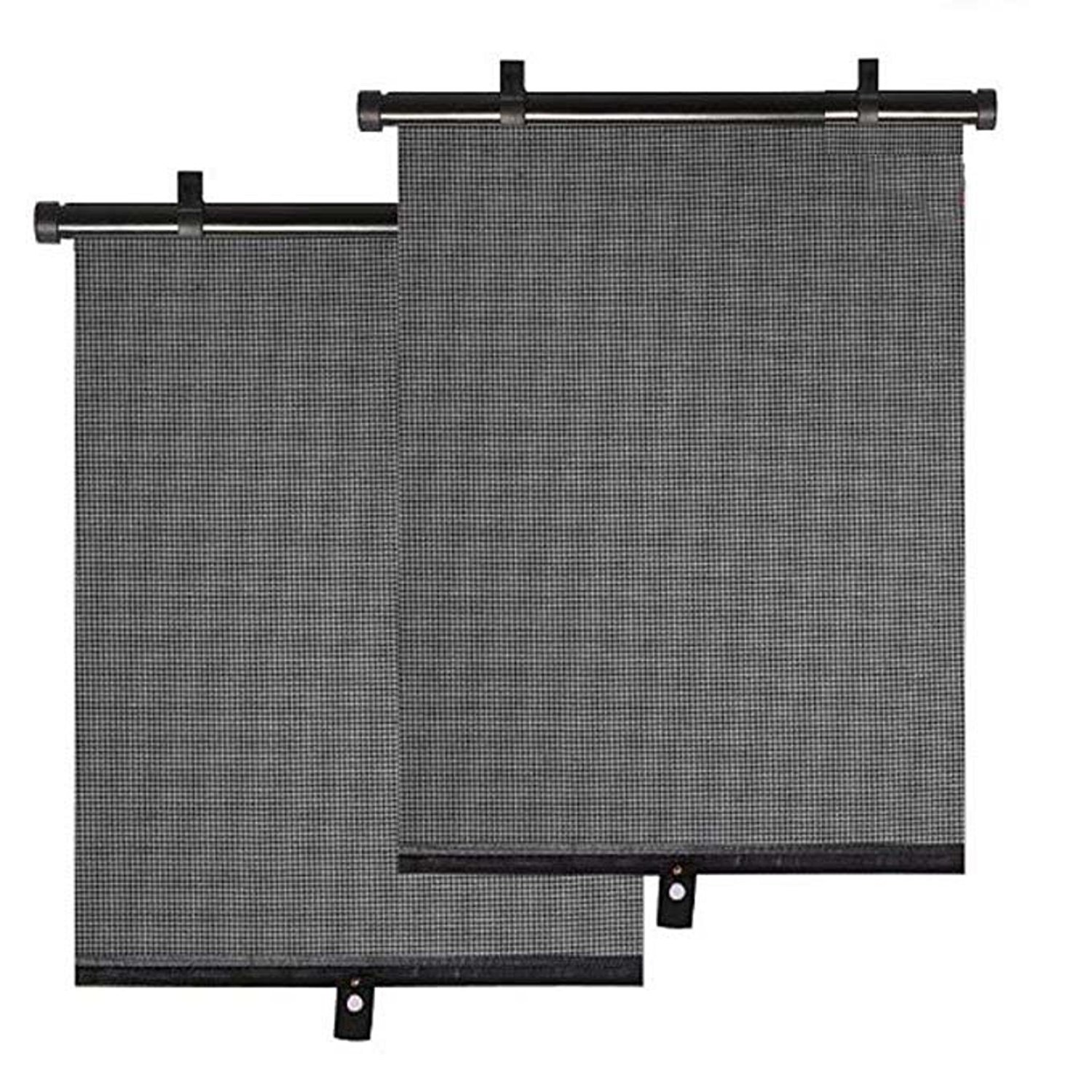 Car Window Sun Shade 2 Pack Car Roller Block Shade Sun Blind Visor Screen
