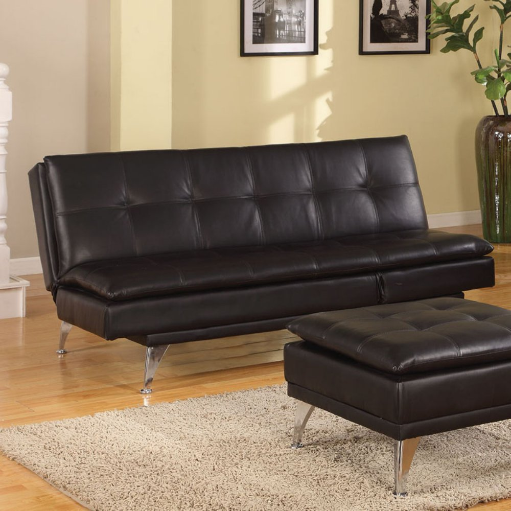 ACME Furniture 57080 Frasier Adjustable Sofa, Black PU
