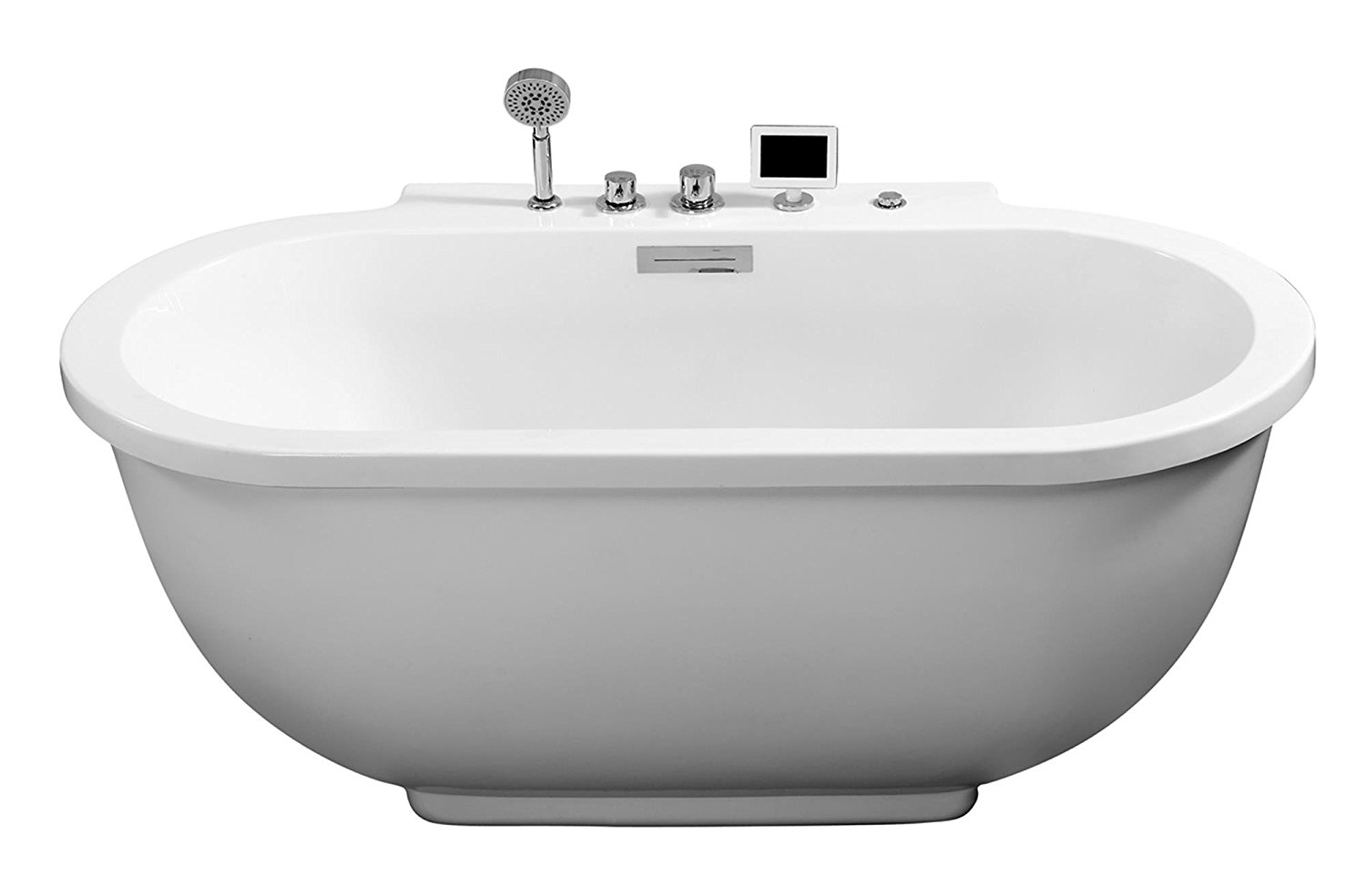 Ariel AM128JDCLZ Bath Whirlpool Tub, Rounded Front, White