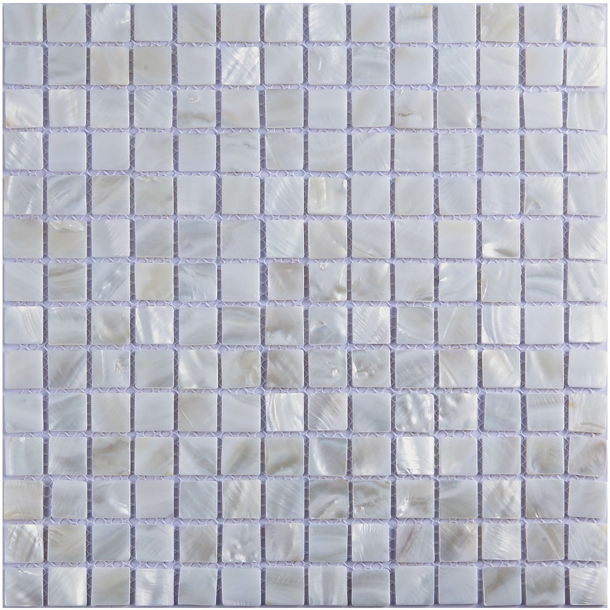 "Art3d Oyster Mother of Pearl Square Shell Mosaic Tile for Kitchen Backsplashes, Bathroom Walls, Spas, Pools 12"" X 12"" Pack of 6"