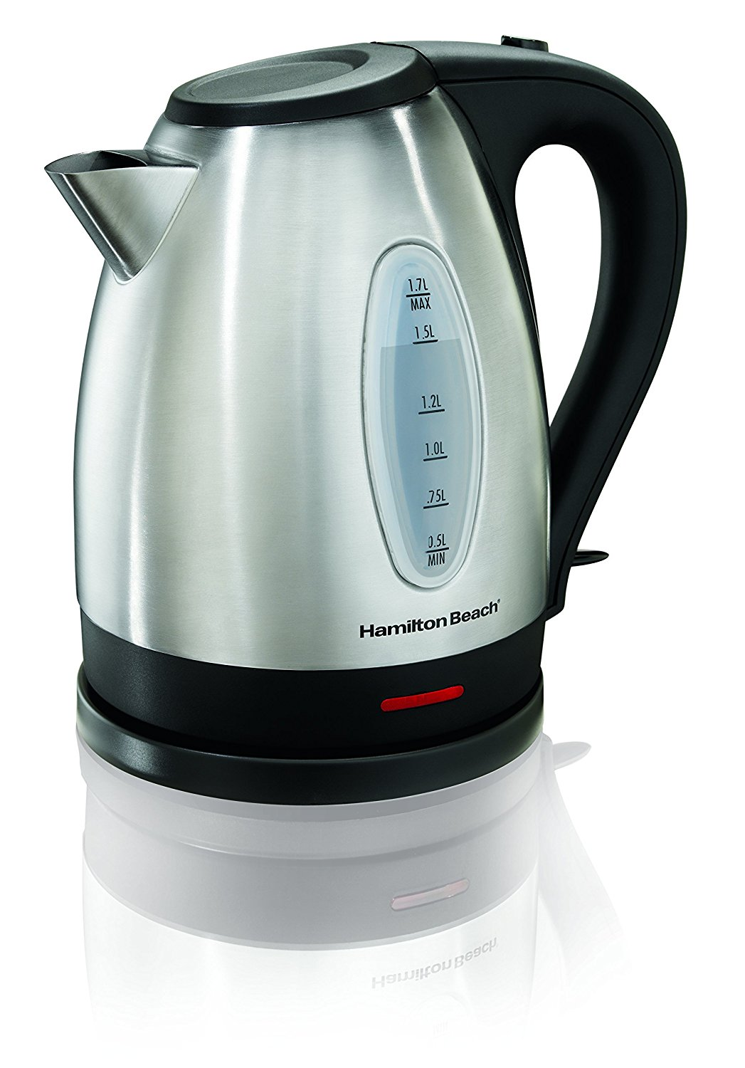 Hamilton Beach 40880 Stainless Steel Electric Kettle, 1.7-Liter, Silver