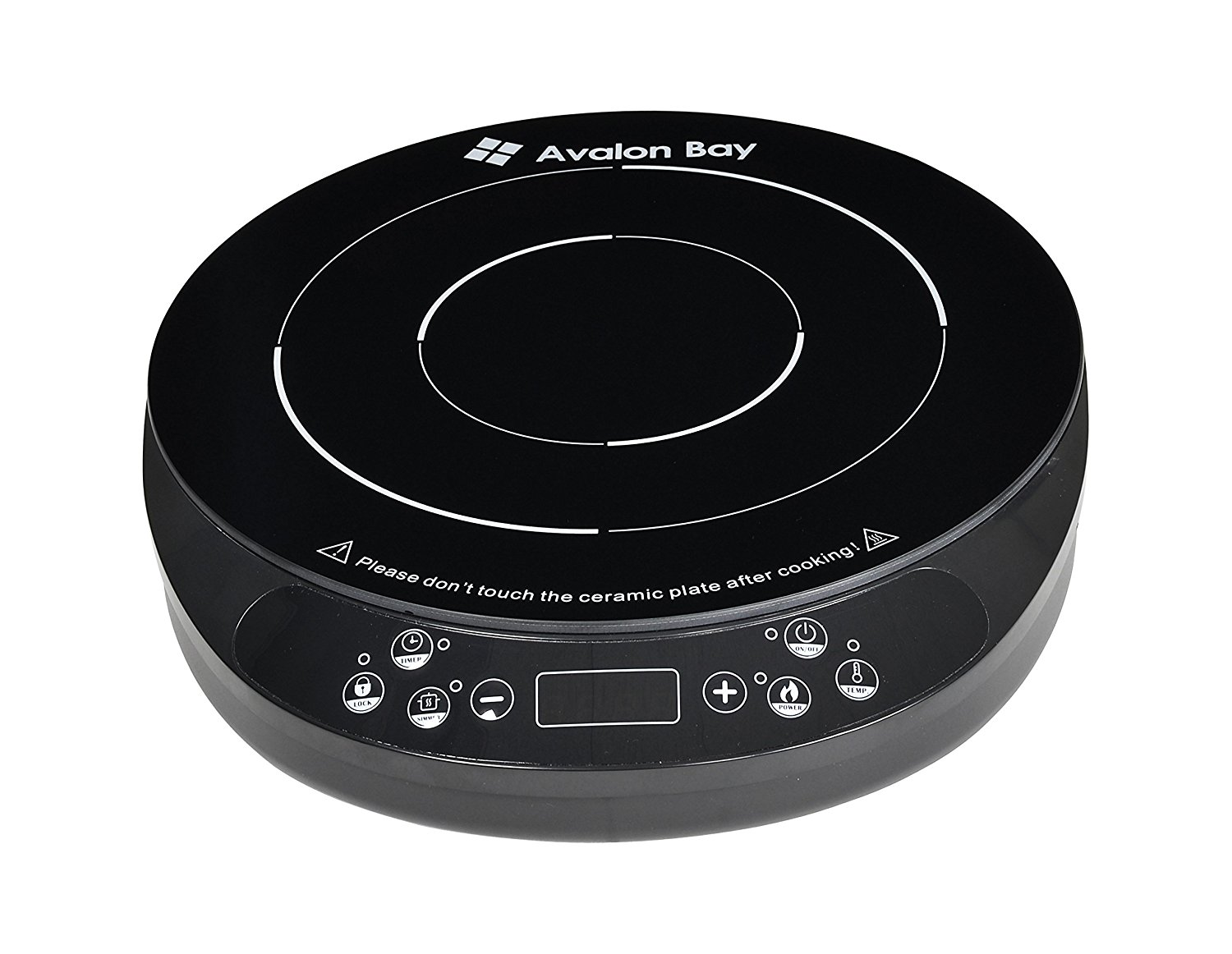 Induction Cooktop by Avalon Bay, 1800 Watts, Euro Edition (Temperature in Celsius) IC200B