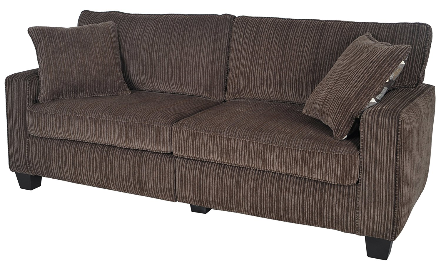 "Serta RTA Palisades Collection 78"" Sofa in Riverfront Brown"