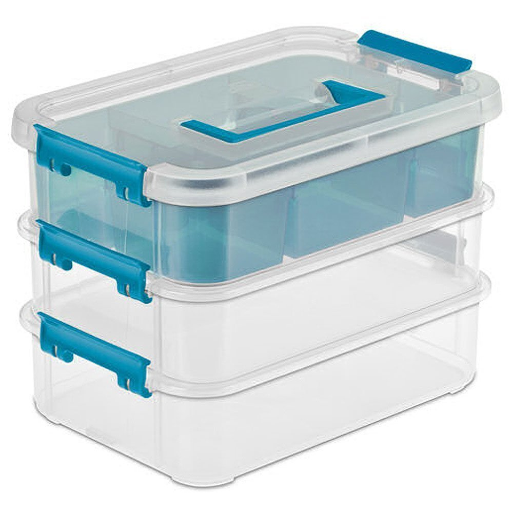 Sterilite 14138606 Layer Stack & Carry Box, 10-5/8-Inch