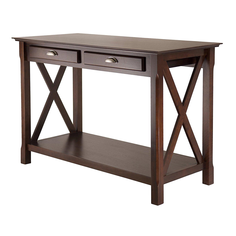 Winsome Wood Xola Console Table, Cappuccino Finish