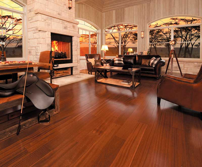 Beautiful solid wood floor in Africa