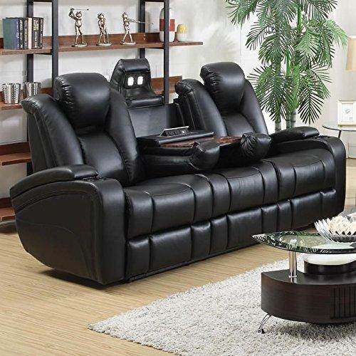 Coaster 601741P Home Furnishings Power Sofa, Black