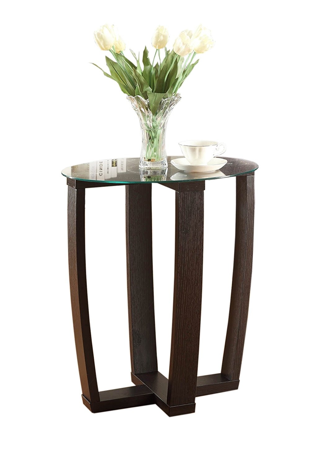 Convenience Concepts Modern Newport Chairside Table, Rich Espresso