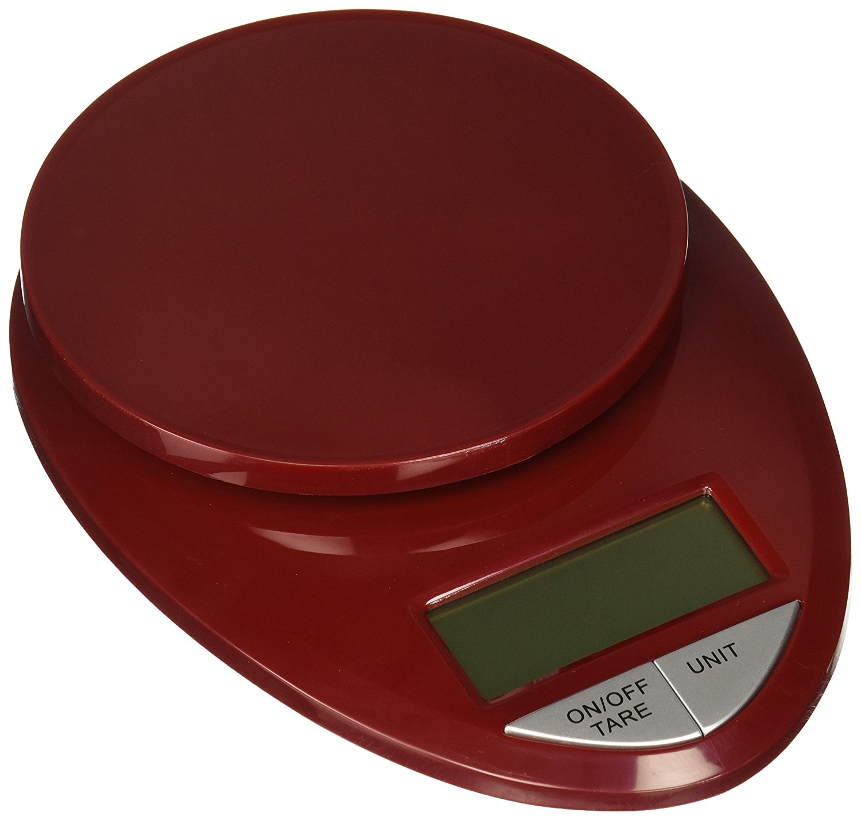 EatSmart Precision Pro Digital Kitchen Scale, Red