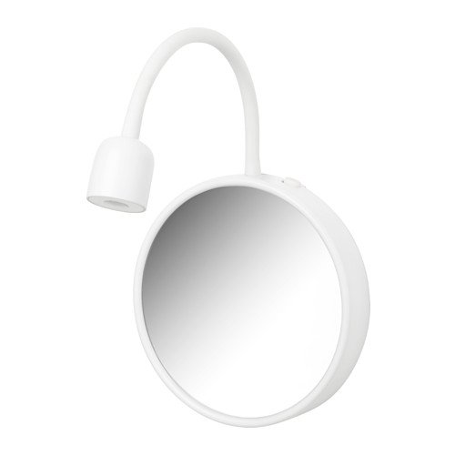 Ikea BLÅVIK LED wall lamp with mirror, battery operated