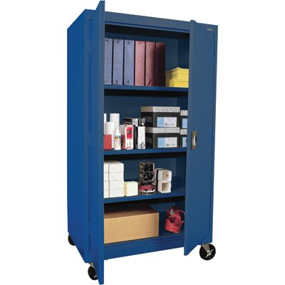 Sandusky Lee TA3R362460-06 Transport Series Mobile Storage Cabinet, Blue