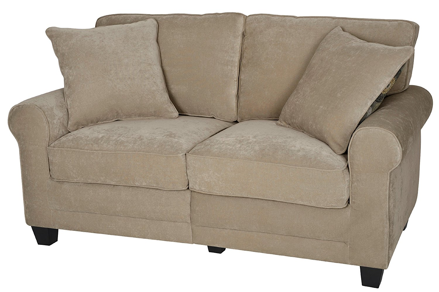 "Serta RTA Copenhagen Collection 61"" Loveseat in Marzipan"