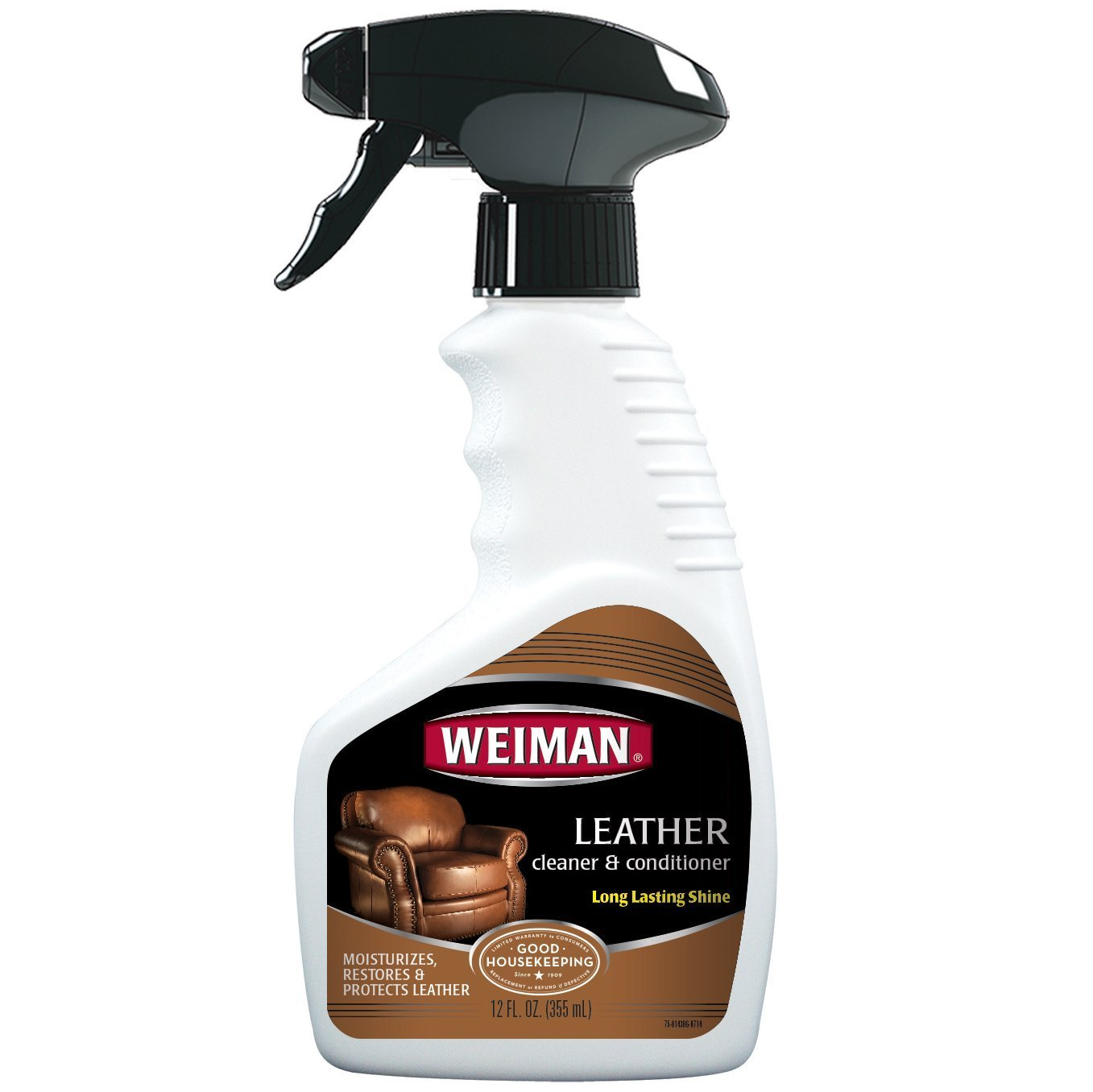 Weiman Leather Cleaner & Conditioner - Gentle Formula Cleans, Conditions and Restores Leather and Vinyl Surfaces