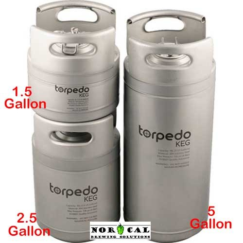 2.5 Gallon Torpedo Ball Lock Corny Kegs (Stackable Kegs)