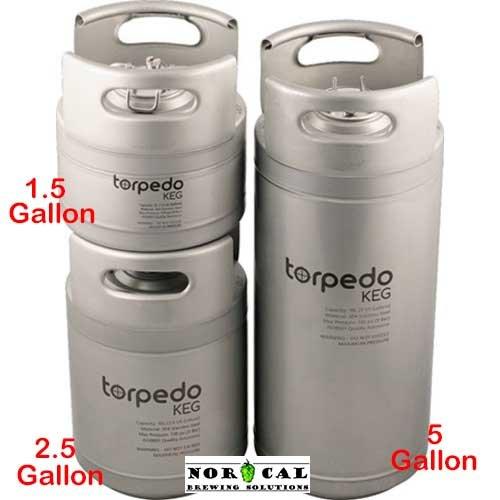 2.5 Gallon Torpedo Ball Lock Corny Kegs (Stackable Kegs)