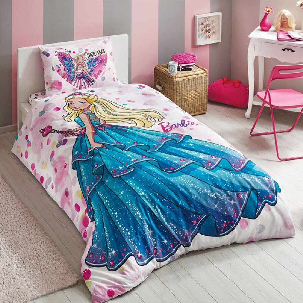 Barbie Dream Bedding Duvet Cover Set, Single / Twin 100% COTTON