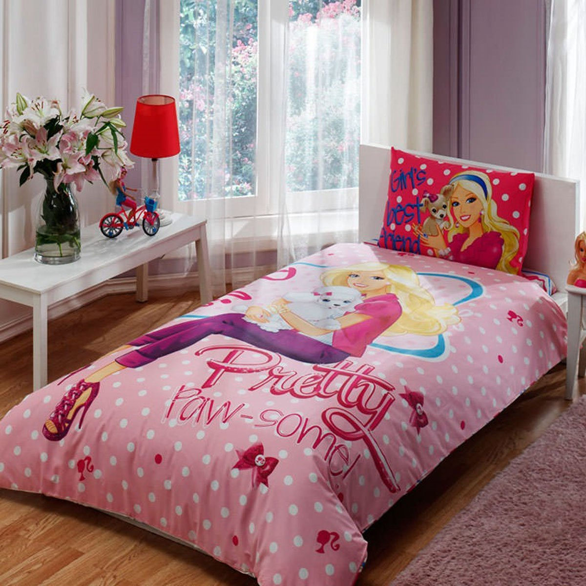 Barbie Pretty, Bedding Duvet Cover Set, Single / Twin