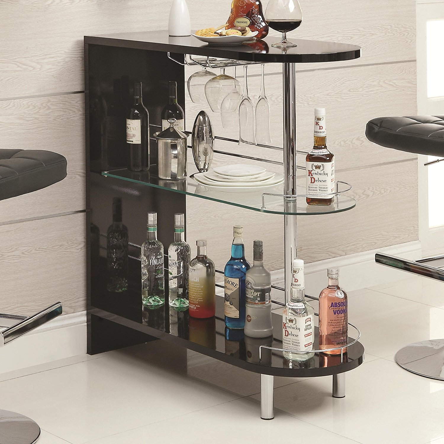 Coaster Home Furnishings 101063 Contemporary Bar Table, Black