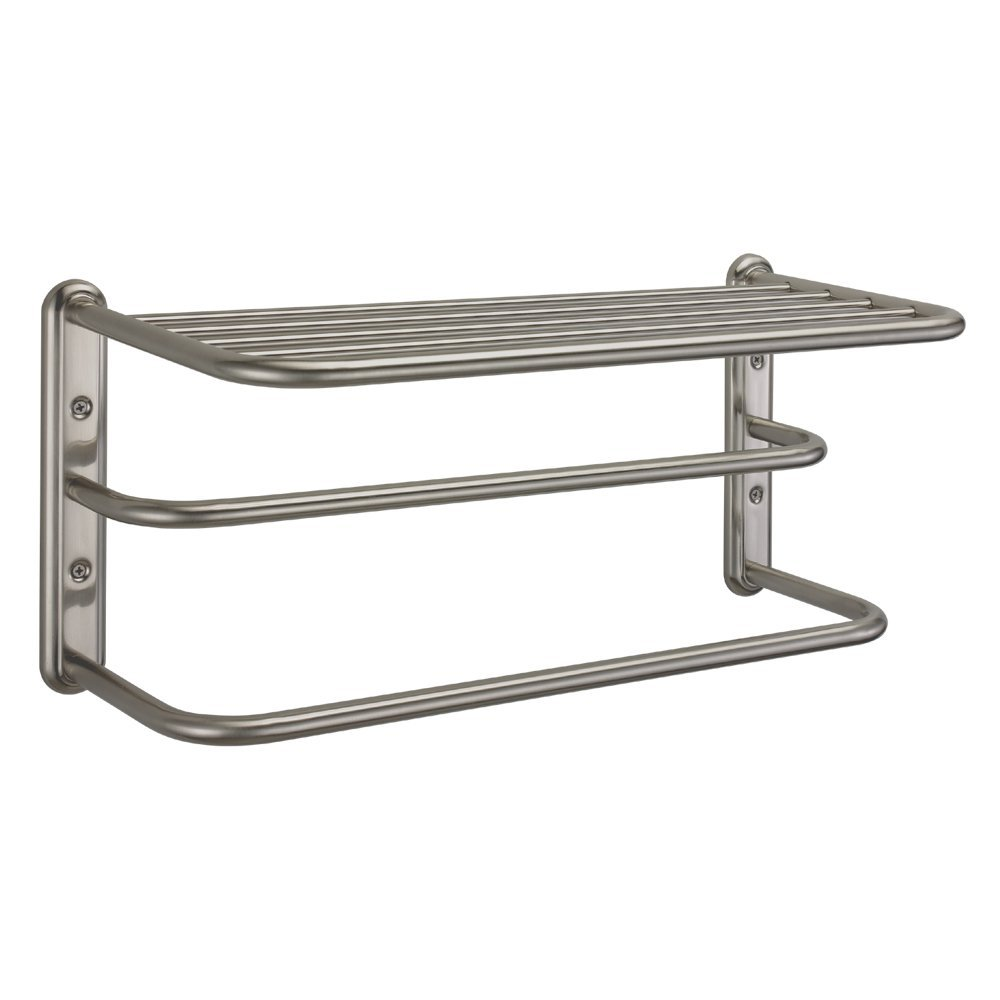 Gatco 1541SN 10-Inch by 20-Inch Towel Rack, Satin Nickel