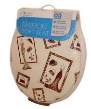 Ginsey Fashion Soft Toilet Seat (Tres Chic)