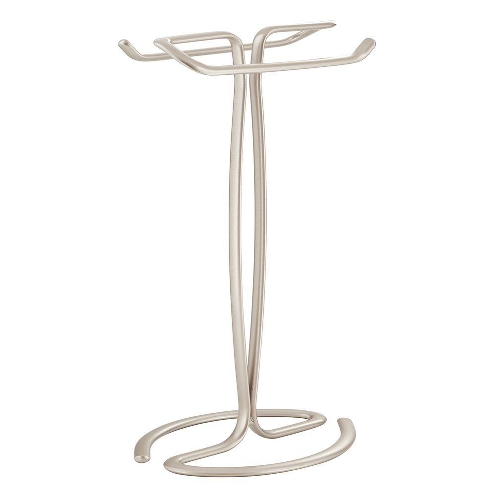 InterDesign Axis - Free Standing Towel Rack for Bathroom Vanities - Satin - 7.6 x 6.2 x 13.8 inches