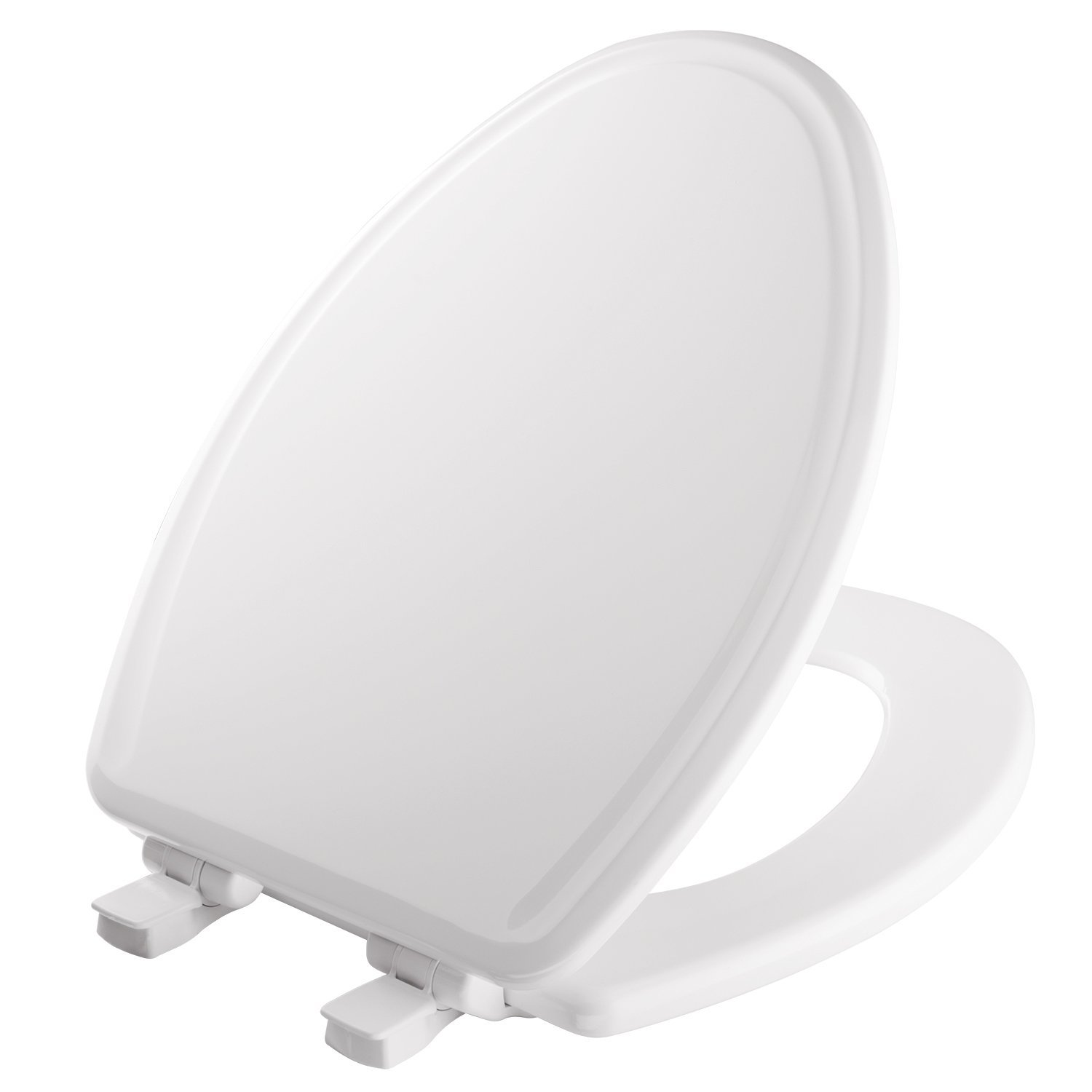 Mayfair 148SLOWA 000/1848SLOWA 000 Slow-Close Molded Wood Toilet Seat featuring Whisper-Close, Easy Clean & Change Hinges and STA-TITE Seat Fastening System, Elongated, White