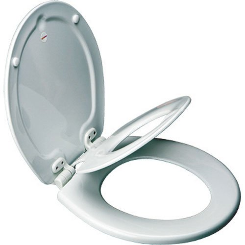 Mayfair 83SLOWA 000/883SLOWA 000 NextStep Adult Toilet Seat with Built-in Child Potty Training Seat, Round, White