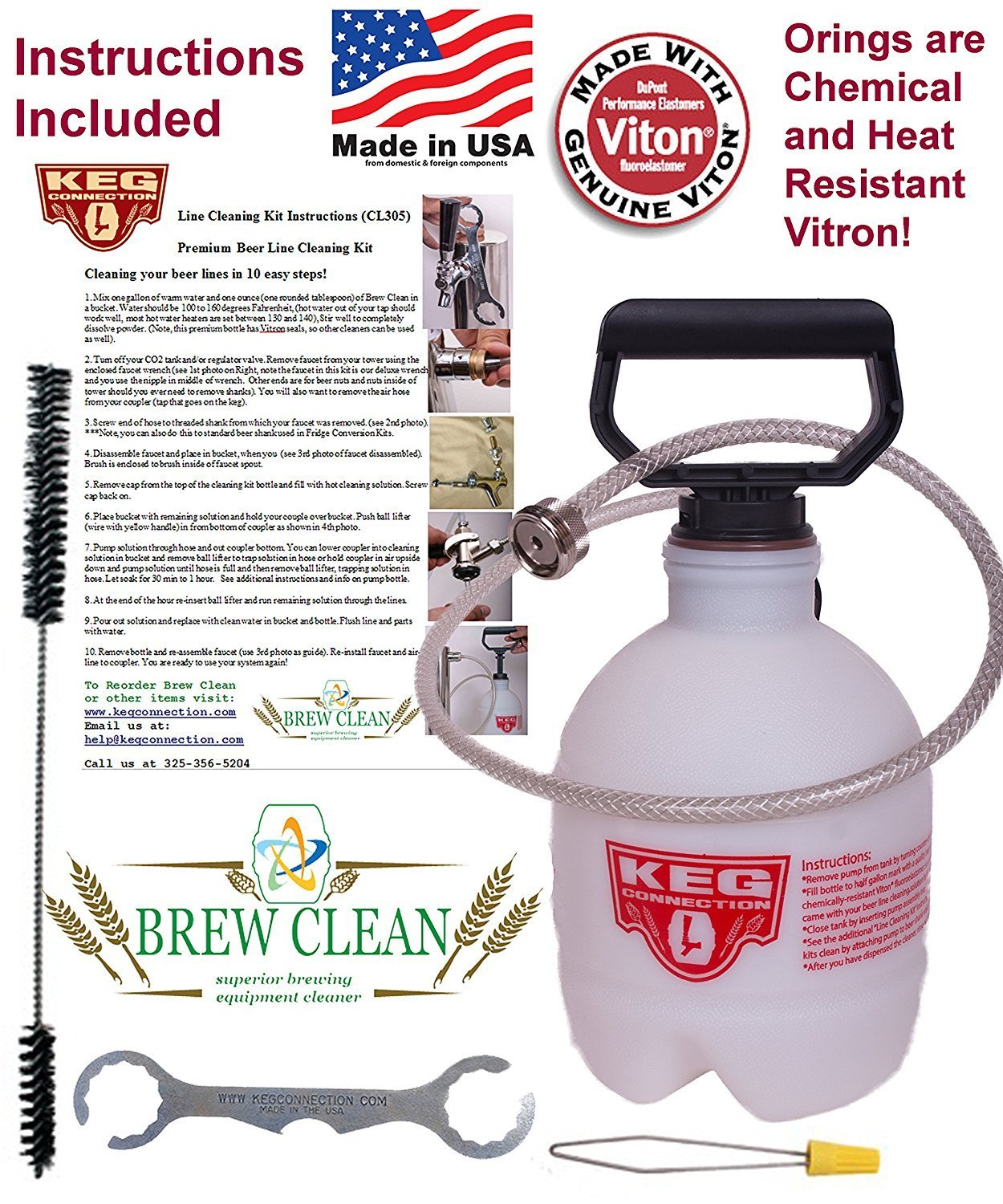 Premium Beer Line Cleaning Kit by Kegconnection
