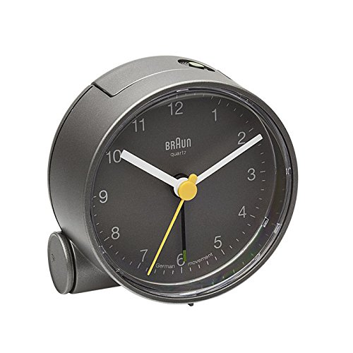 Braun Round Analog Travel Alarm Clock