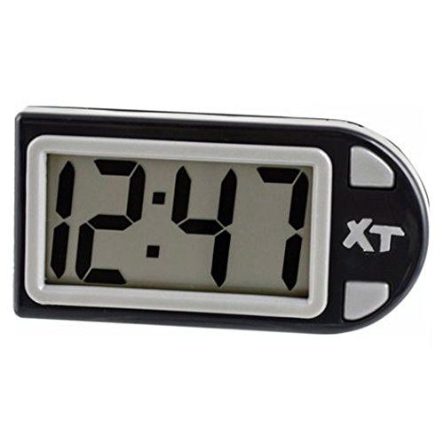 Custom Accessories 25211 Black Plastic Digital Clock