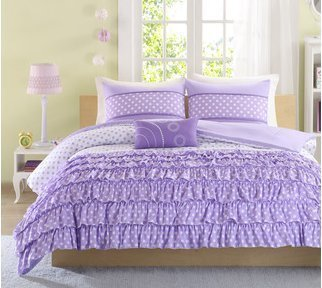 Mizone Girls 4-piece Comforter Set - Purple. Full/queen Girls Comforter Sets