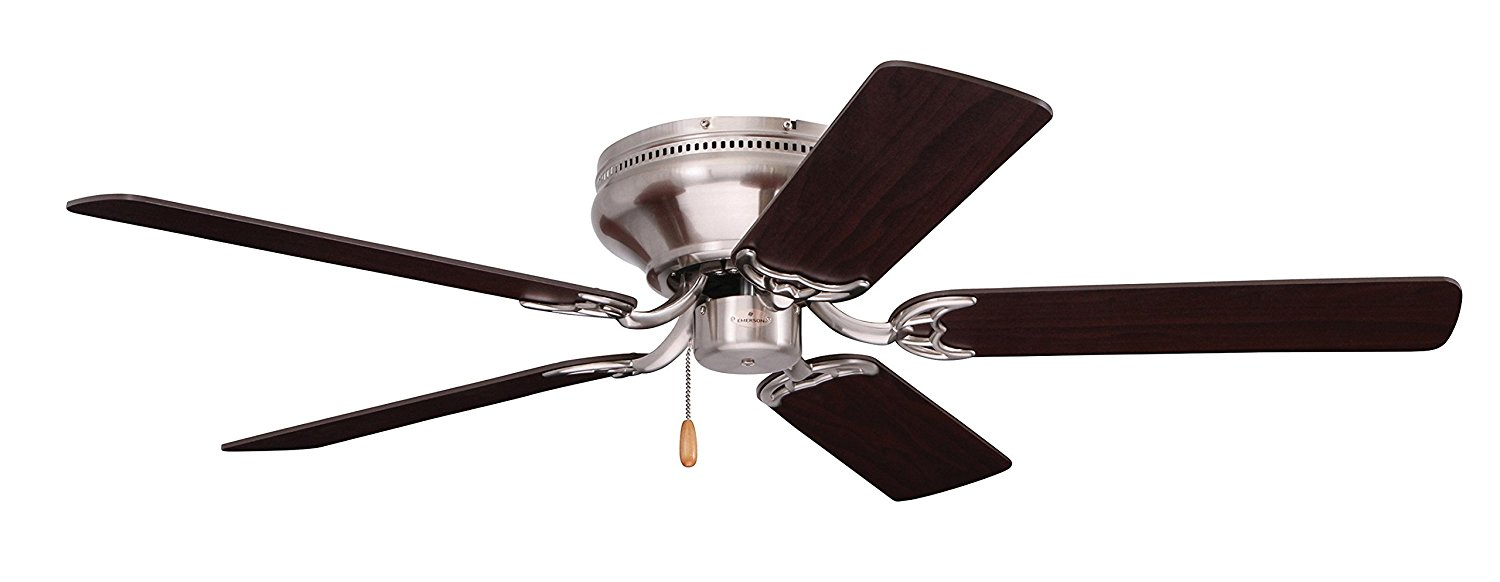 Emerson Ceiling Fans CF804SBS Snugger Low Profile Hugger Ceiling Fan, 42-Inch Blades, Light Kit Adaptable, Brushed Steel Finish