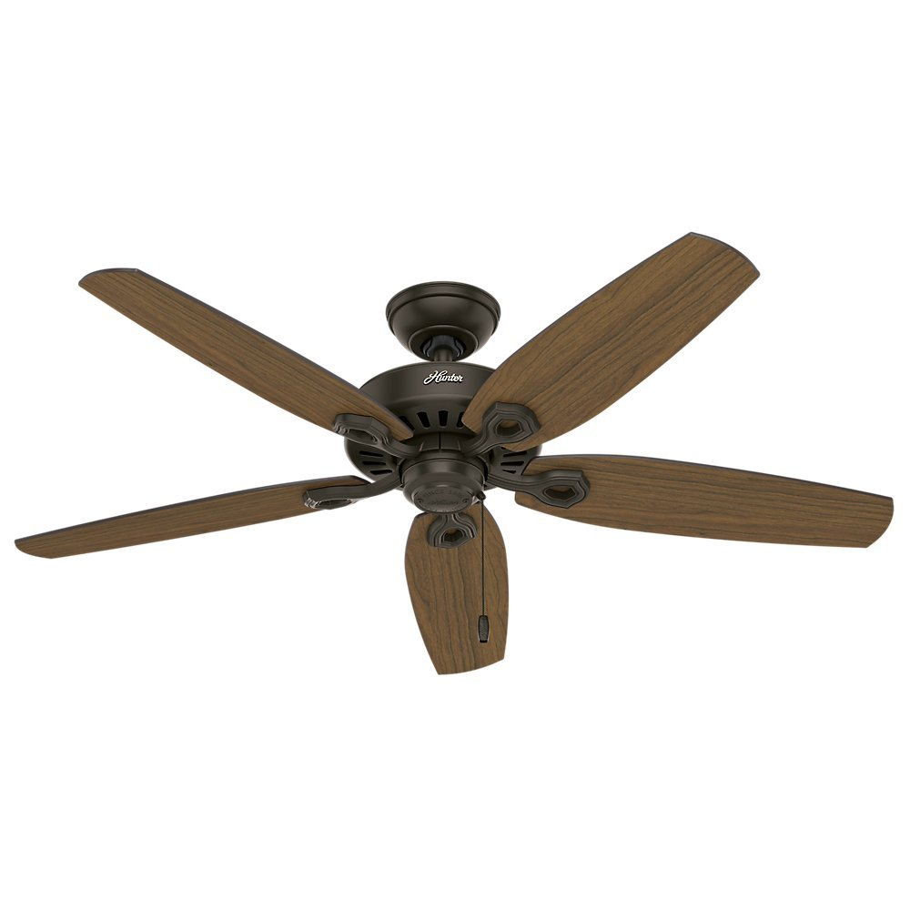 "Hunter 53292 52"" Builder Elite Damp New Ceiling Fan, Bronze"