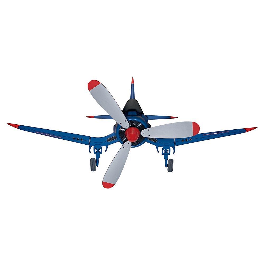 Hunter Fan Company 59031 Fantasy Flyer 48-Inch Blue Ceiling Fan with Three Gray Blades