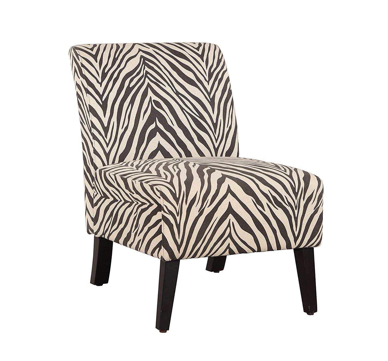 Linon 98320ZEB01U Linen Lily Chair, Zebra