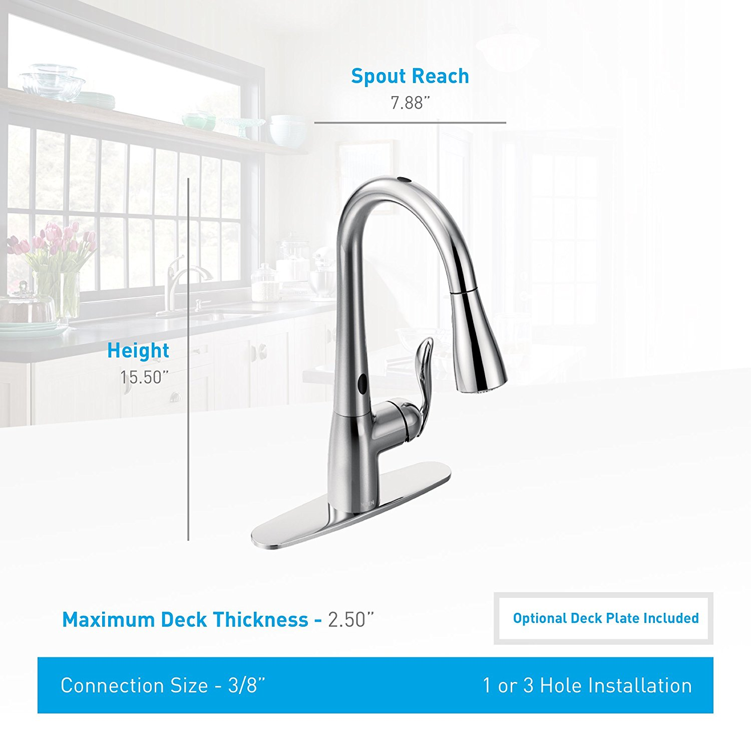 Moen Arbor 7594esrs Kitchen Faucet With Motionsense And