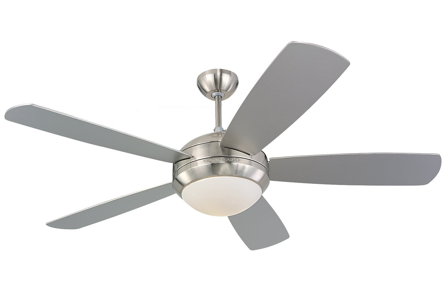 "Monte Carlo 5DI52BSD-L, Discus, 52"" Ceiling Fan, Brushed Steel"